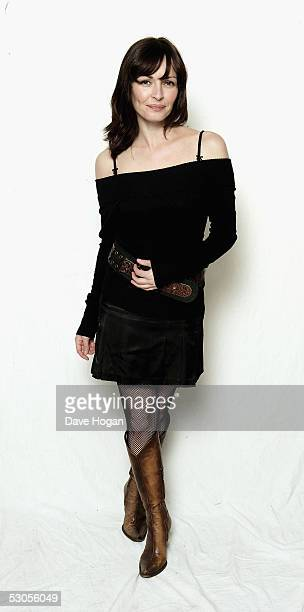 Musician Sharon Corr poses in the studio at the '46664 Arctic' concert at Fyllingen on June 11 2005 in Tromso Norway The fourth concert aims to raise...