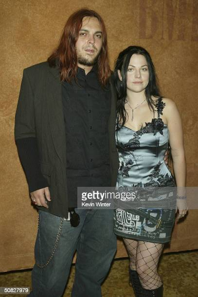 Musician Shaun Morgan of Seether and singer Amy Lee of Evanescence pose at the 2004 BMI Pop Awards at the Regent Beverly Wilshire Hotel on May 11...