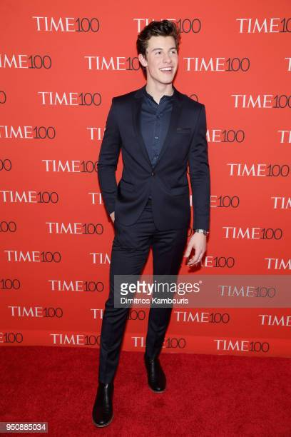 Musician Shawn Mendes attends the 2018 Time 100 Gala at Jazz at Lincoln Center on April 24 2018 in New York City