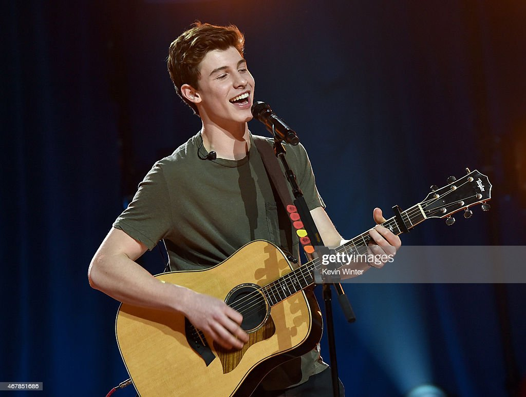 iHeartRadio Music Awards Fan Army Nominee Celebration, Presented By Taco Bell Featuring Shawn Mendes At The iHeartRadio Theater Los Angeles : News Photo