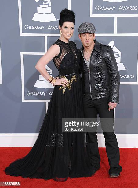 Musician Shawna Thompson and Keifer Thompson of the duo Thompson Square arrive at 54th Annual GRAMMY Awards held the at Staples Center on February 12...