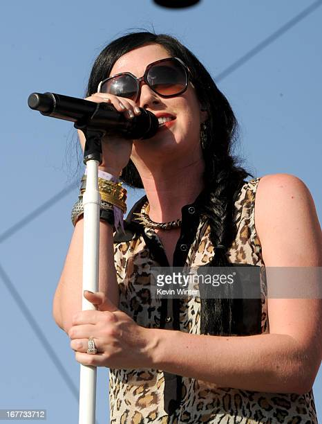 Musician Shawna Thompson of Thompson Square performs onstage during 2013 Stagecoach California's Country Music Festival held at The Empire Polo Club...