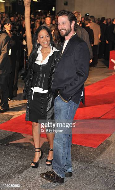 Musician Sheila E and Actor Noah Wyle pose as Ringo Starr is honored with a Star on the Hollywood Walk of Fame on February 8 2010 in Hollywood...