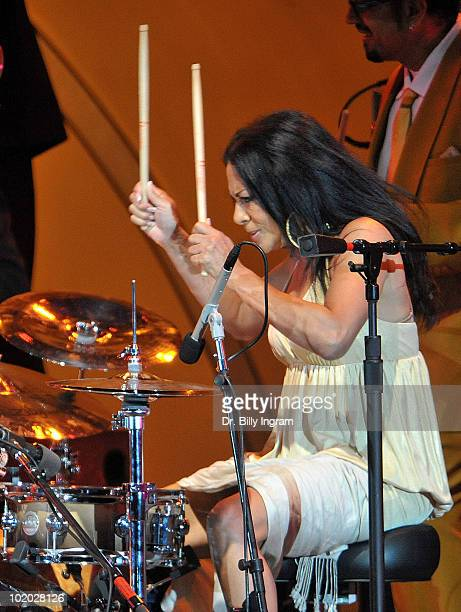 Musician Sheila E performs at the 32nd Annual Playboy Jazz Festival at The Hollywood Bowl on June 12 2010 in Los Angeles California