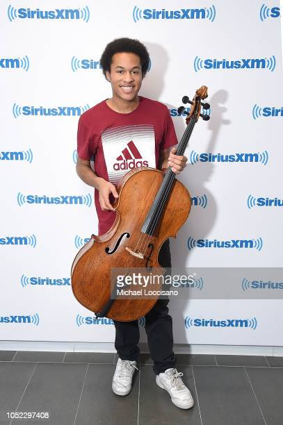 Musician Sheku Kanneh-Mason visits SiriusXM Studios on October 16, 2018 in New York City.