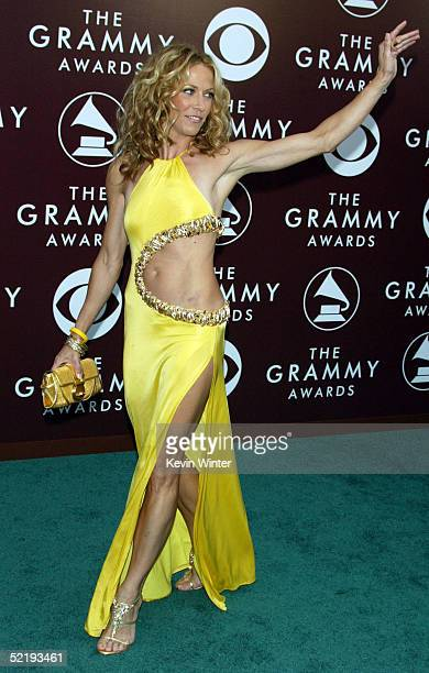 Musician Sheryl Crow arrives to the 47th Annual Grammy Awards at the Staples Center on February 13 2005 in Los Angeles California