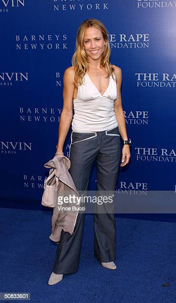 Musician Sheryl Crow attends the Fall 2004 Lanvin Fashion Show benefiting the Rape Foundation on May 12 2004 at the Barneys New York store in Beverly...