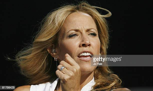 Musician Sheryl Crow performs at the Hard Rock Calling Festival on June 28 2008 in London England