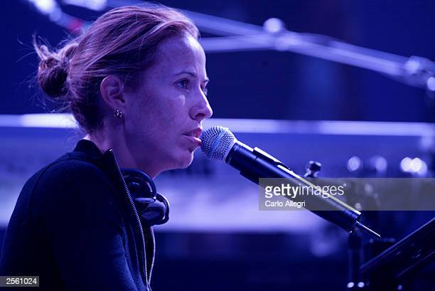 Musician Sheryl Crow performs during rehearsals for the Andre Agassi Foundation's 8th Annual Grand Slam for Children benefit concert at the MGM Grand...
