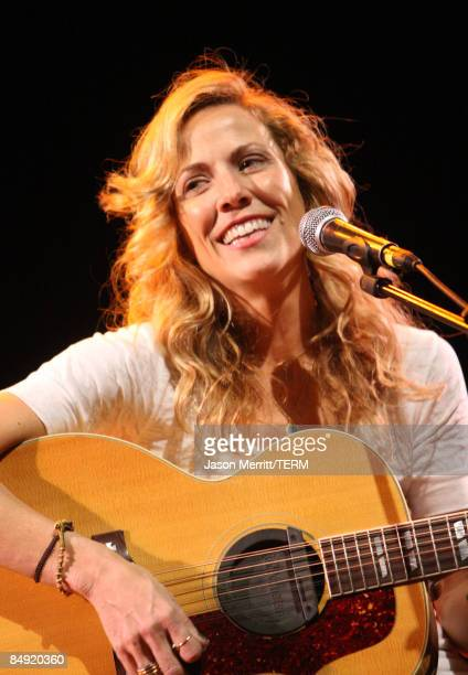 Musician Sheryl Crow performs during the Children Mending Hearts Gala held at the House Of Blues on February 18 2009 in Hollywood California