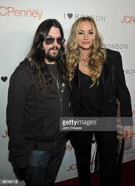 Musician Shooter Jennings and actress Drea de Matteo arrive at the I Heart Ronson launch party presented by Charlotte Ronson and JCPenney held at Bar...