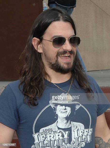 Musician Shooter Jennings backstage during CMT Giants honoring Hank Williams Jr at the Gibson Amphitheatre on October 25 2007 in Los Angeles...