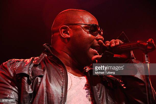 Musician Shyan Selah performs with the AllStar Jam Band at the 'Unity For Peace' benefit concert held at the House Of Blues on March 12 2010 in Los...