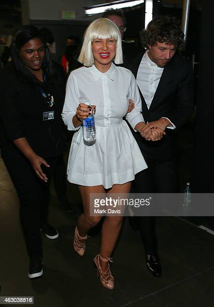 Musician Sia attends The 57th Annual GRAMMY Awards at STAPLES Center on February 8 2015 in Los Angeles California