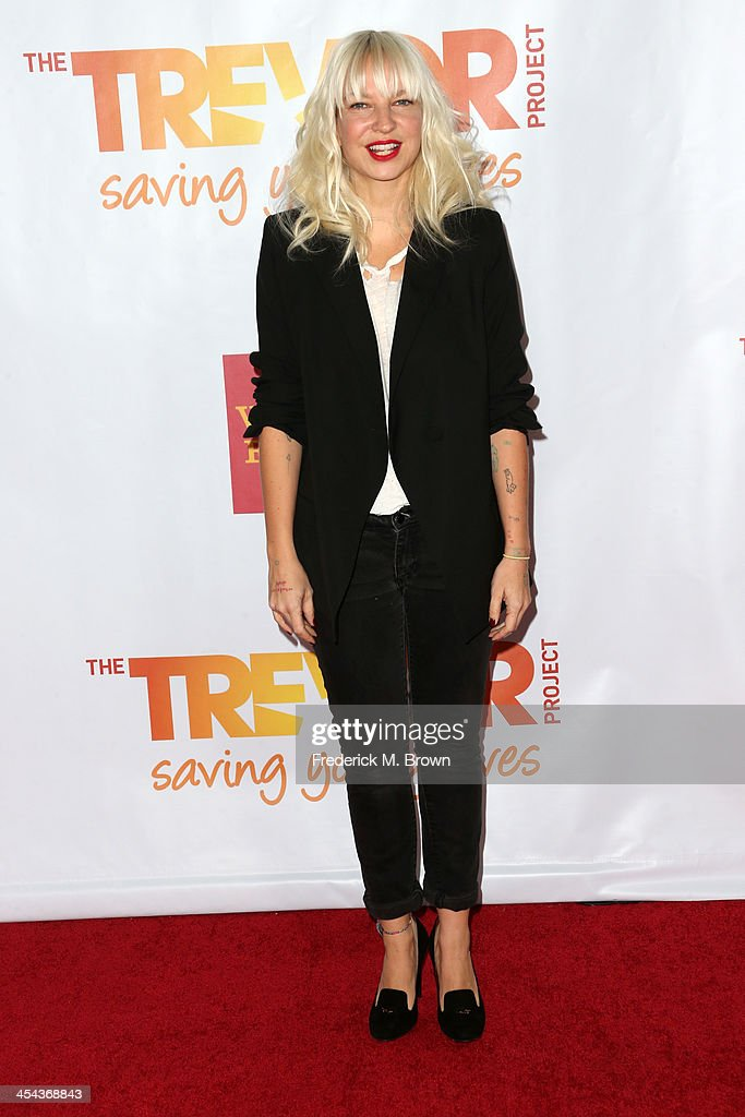 Musician Sia attends 'TrevorLIVE LA' honoring Jane Lynch and Toyota for the Trevor Project at Hollywood Palladium on December 8, 2013 in Hollywood, California.