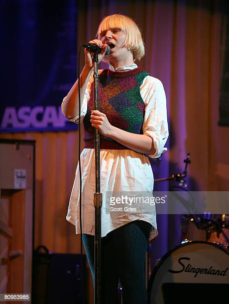 Musician Sia performs at the Tribeca ASCAP Music Lounge held at the Canal Room during the 2008 Tribeca Film Festival on May 1, 2008 in New York City.