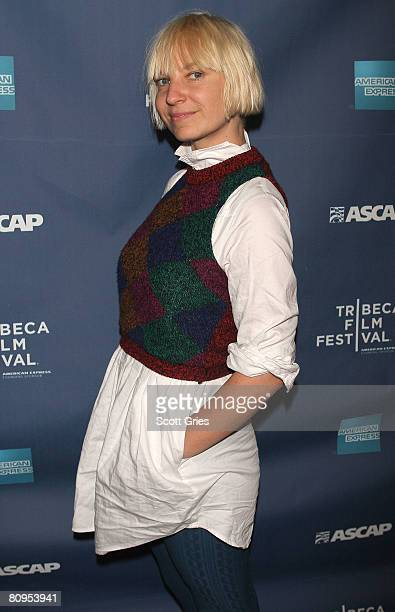 Musician Sia poses at the Tribeca ASCAP Music Lounge held at the Canal Room during the 2008 Tribeca Film Festival on May 1, 2008 in New York City.
