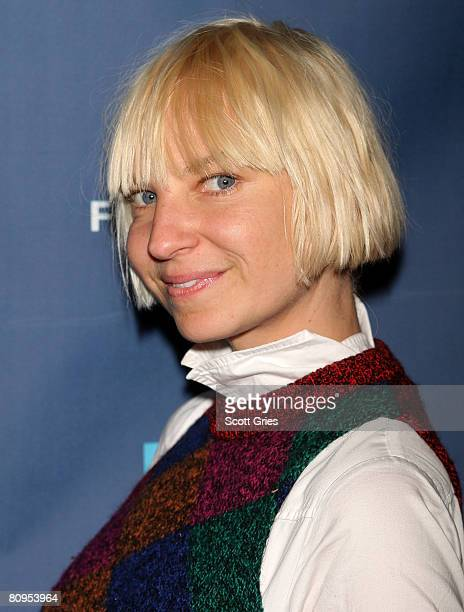 Musician Sia poses at the Tribeca ASCAP Music Lounge held at the Canal Room during the 2008 Tribeca Film Festival on May 1 2008 in New York City