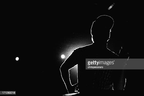 musician silhouette - stage performance space stock pictures, royalty-free photos & images