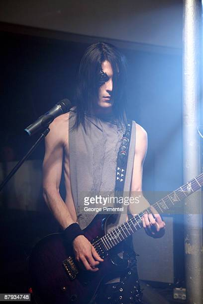 """Musician Silk Helder of Fritz Helder & the Phantoms performs in Concert for their """"Platinum Edition"""" at the Red Bull Gallery Space on May 22, 2009 in..."""