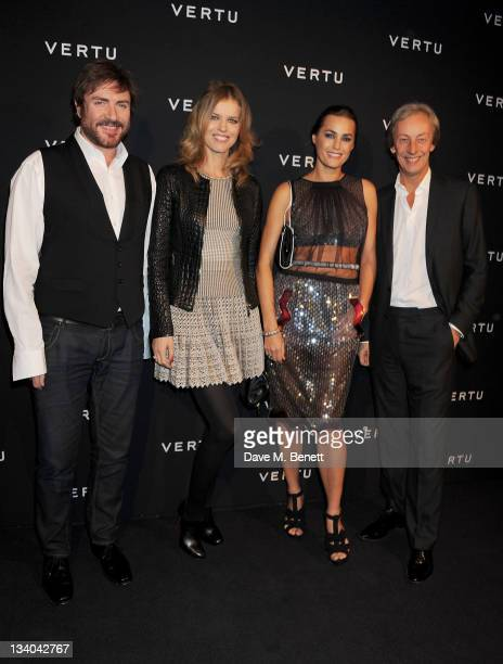 Musician Simon Le Bon models Eva Herzigova Yasmin Le Bon and Vertu President Perry Oosting attend the launch of the Vertu Constellation the luxury...