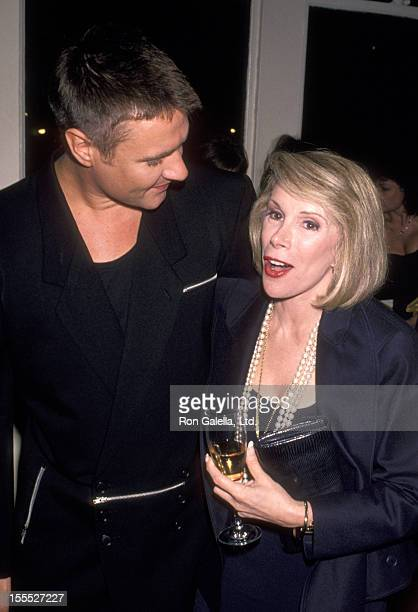 Musician Simon Le Bon of Duran Duran and Comedienne Joan Rivers attend the Party for Bob Colacello's New Book Holy Terror Andy Warhol Close Up' on...