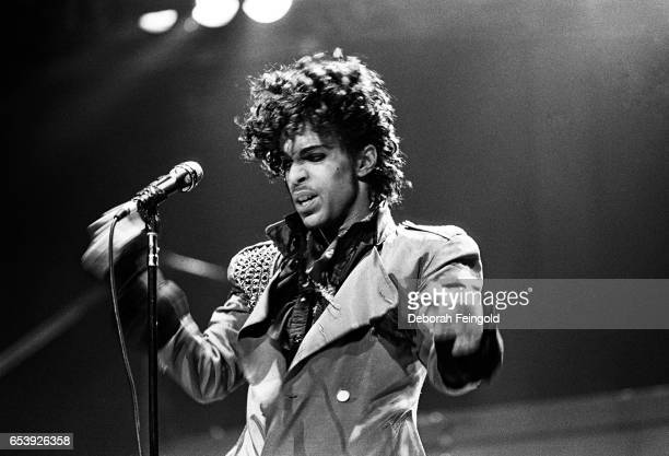 Musician singer and songwriter Prince performing in concert in 1983 in New York City New York