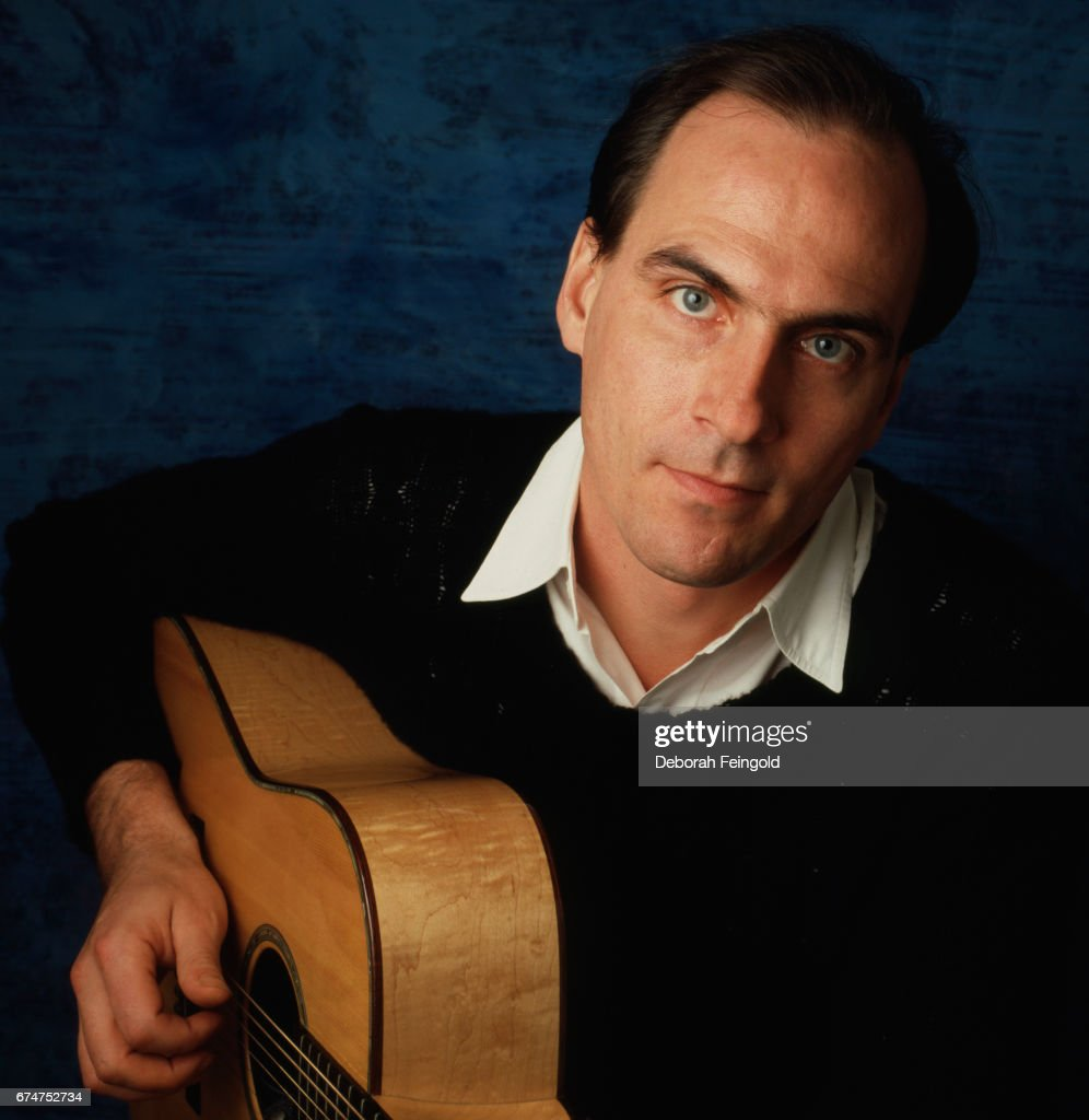Musician, singer, songwriter and guitar player James Taylor poses for a portrait in 1985 in New York City, New York.