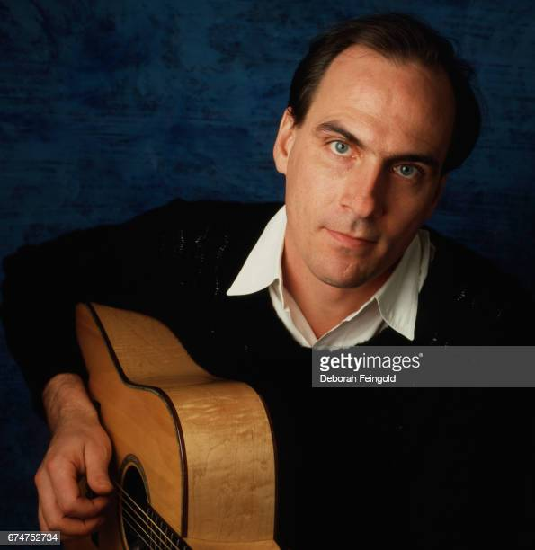 Musician singer songwriter and guitar player James Taylor poses for a portrait in 1985 in New York City New York