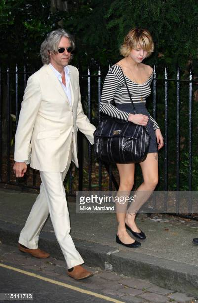 Musician Sir Bob Geldof and his daughter Peaches Geldof arrive at Sir David Frost's Summer Party on July 2 2009 in London England