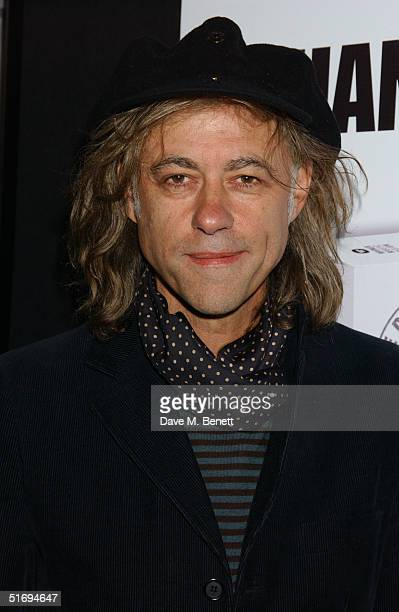 Musician Sir Bob Geldof arrives at the Premiere screening of the new fourdisc DVD featuring 10 hours of footage from the historic charity concert...