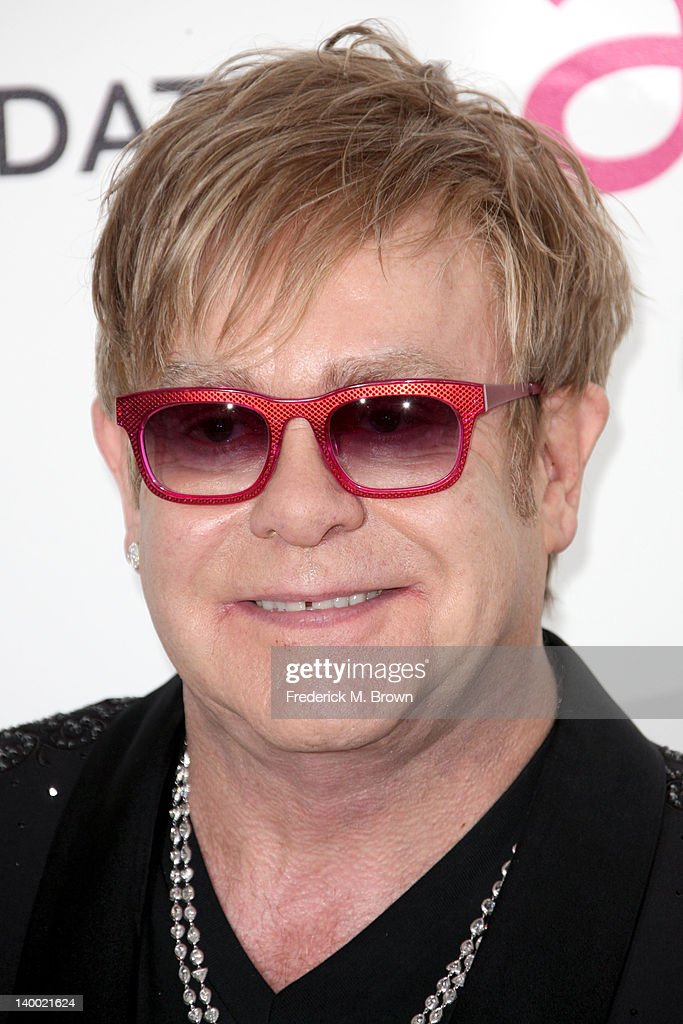Musician Sir Elton John arrives at the 20th Annual Elton John AIDS Foundation's Oscar Viewing Party held at West Hollywood Park on February 26, 2012 in West Hollywood, California.