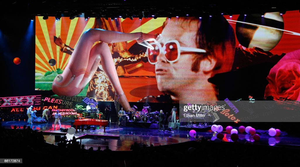 Musician Sir Elton John performs during the final performance of his show 'The Red Piano' at The Colosseum at Caesars Palace April 22, 2009 in Las Vegas, Nevada. John played 241 concerts in the 4,300-seat showroom since he began his run as one of the resort's resident headliners in February 2004.