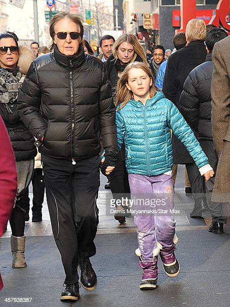 Musician Sir Paul McCartney And His Daughter Beatrice Are Seen On December 19 2013 In