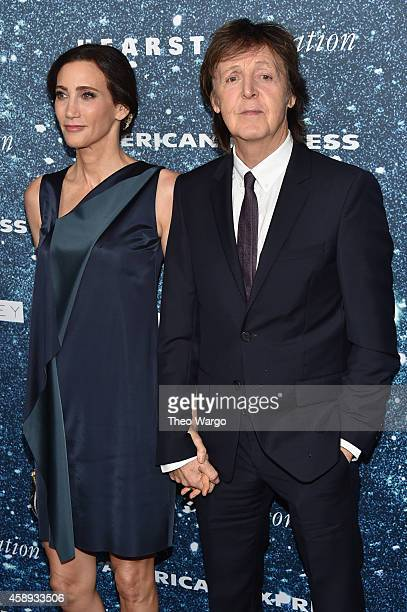 Musician Sir Paul McCartney and Nancy Shevell attend 2014 Women's Leadership Award Honoring Stella McCartney at Alice Tully Hall at Lincoln Center on...