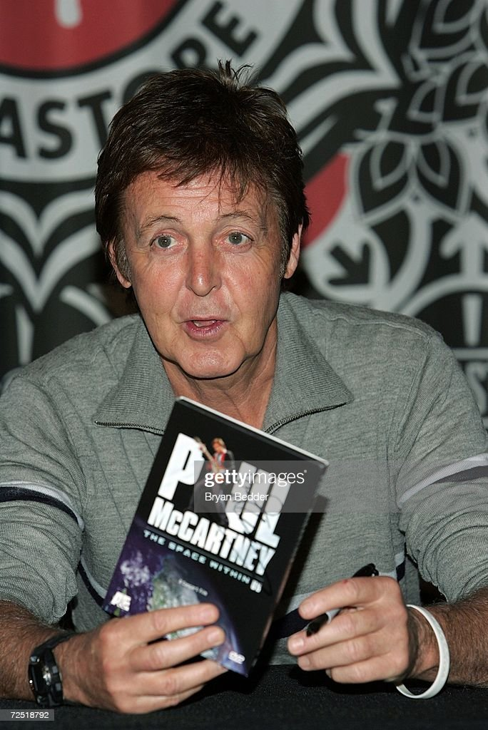 Sir Paul McCartney Signs DVD The Space Within Us