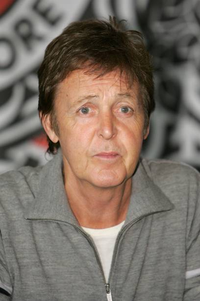 Musician Sir Paul McCartney Attends A In Store Autograph Signing To Promote His New DVD