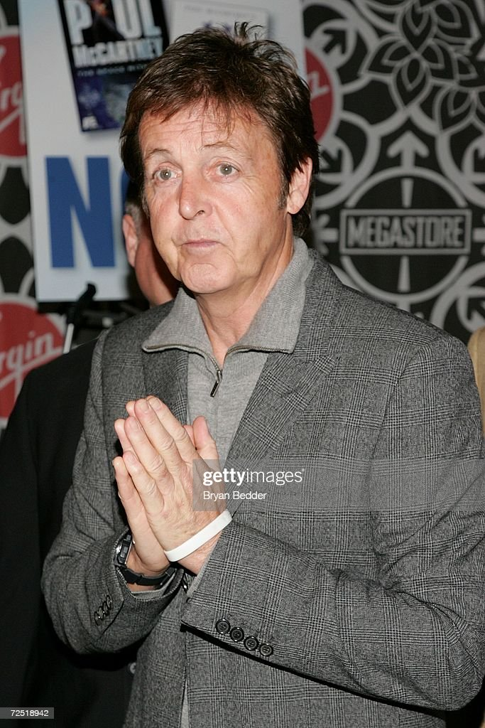 Musician Sir Paul McCartney Attends An In Store Autograph Signing To Promote His New DVD