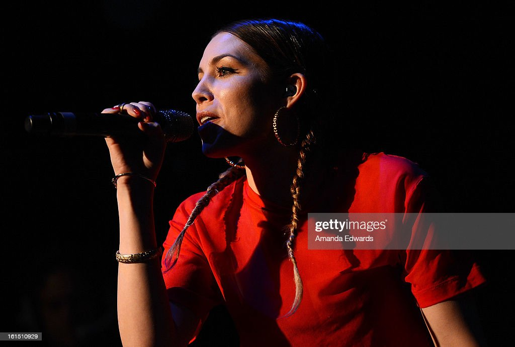 Musician Skylar Grey performs onstage at the Myspace LIVE Show Presented By Chapstick Sessions at the Key Club on February 11, 2013 in West Hollywood, California.