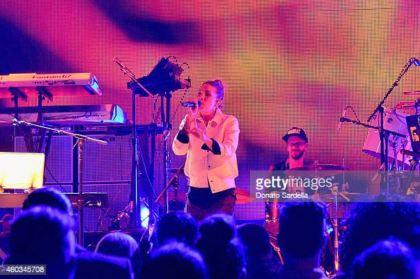 Musician Skylar Grey performs onstage during Coach Backstage Rodeo Drive on December 11 2014 in Beverly Hills California