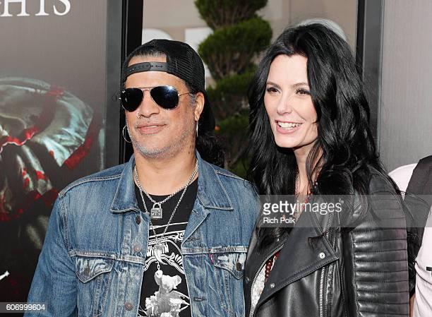Musician Slash and Meegan Hodges attend Universal Studios 'Halloween Horror Nights' opening night at Universal Studios Hollywood on September 16 2016...