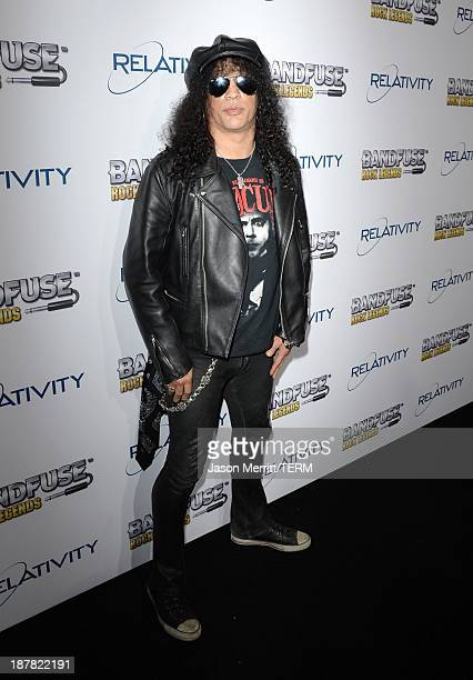 Musician Slash attends the BandFuse Rock Legends video game launch event at House of Blues Sunset Strip on November 12 2013 in West Hollywood...