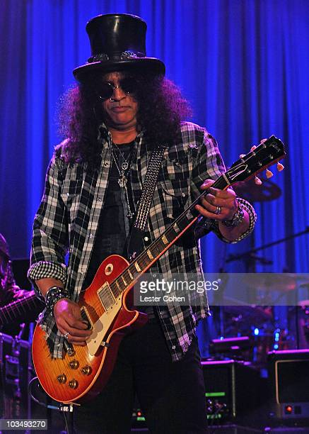 Musician Slash onstage during the 52nd Annual GRAMMY Awards Salute To Icons Honoring Doug Morris held at The Beverly Hilton Hotel on January 30 2010...