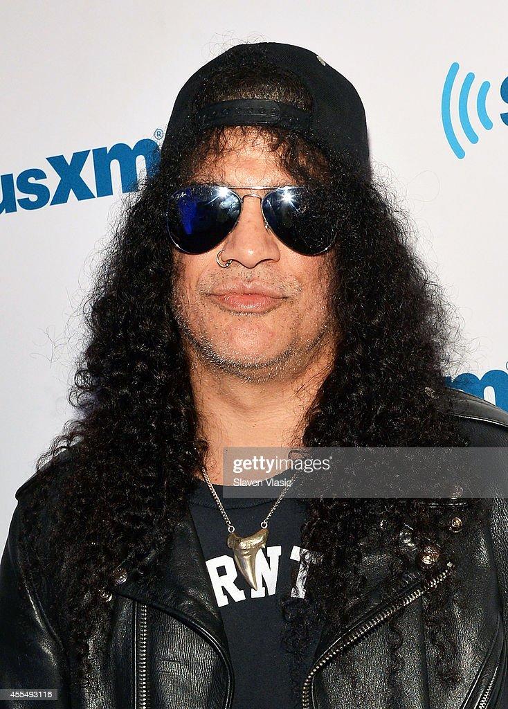 Musician Slash visits SiriusXM Studios on September 15, 2014 in New York City.