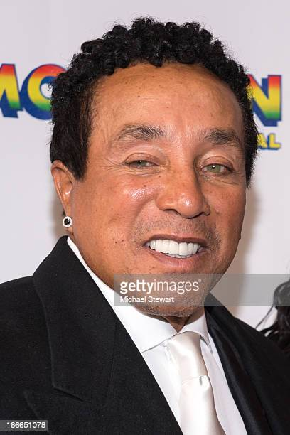"Musician Smokey Robinson attends the Broadway opening night for ""Motown: The Musical"" at Lunt-Fontanne Theatre on April 14, 2013 in New York City."