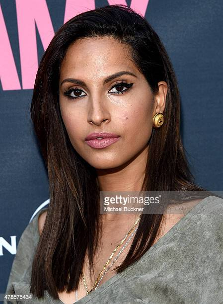 Musician Snoh Aalegra arrives at the premiere of A24 Films 'Amy' at ArcLight Cinemas on June 25 2015 in Hollywood California