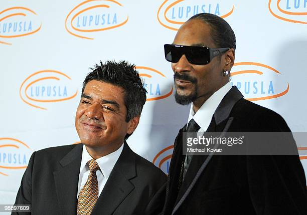 Musician Snoop Dogg and comedian George Lopez attend the 10th Annual Lupus LA Orange Ball at the Beverly Wilshire Four Seasons Hotel on May 6 2010 in...