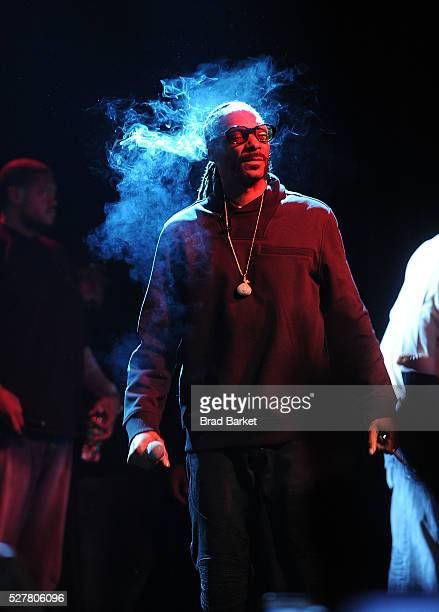 Musician Snoop Dogg performs at the 2nd Annual National Concert Day Show at Irving Plaza on May 3 2016 in New York City