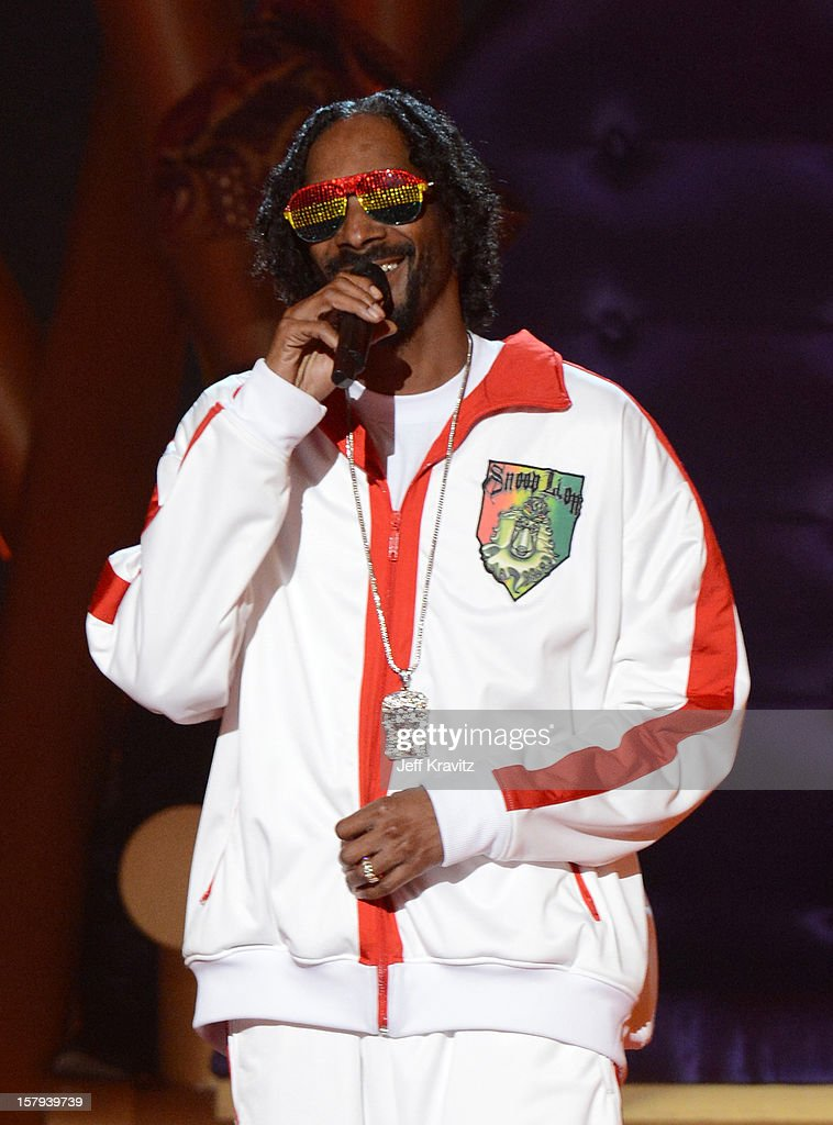 Musician Snoop Lion speaks onstage during Spike TV's 10th annual Video Game Awards at Sony Pictures Studios on December 7, 2012 in Culver City, California.