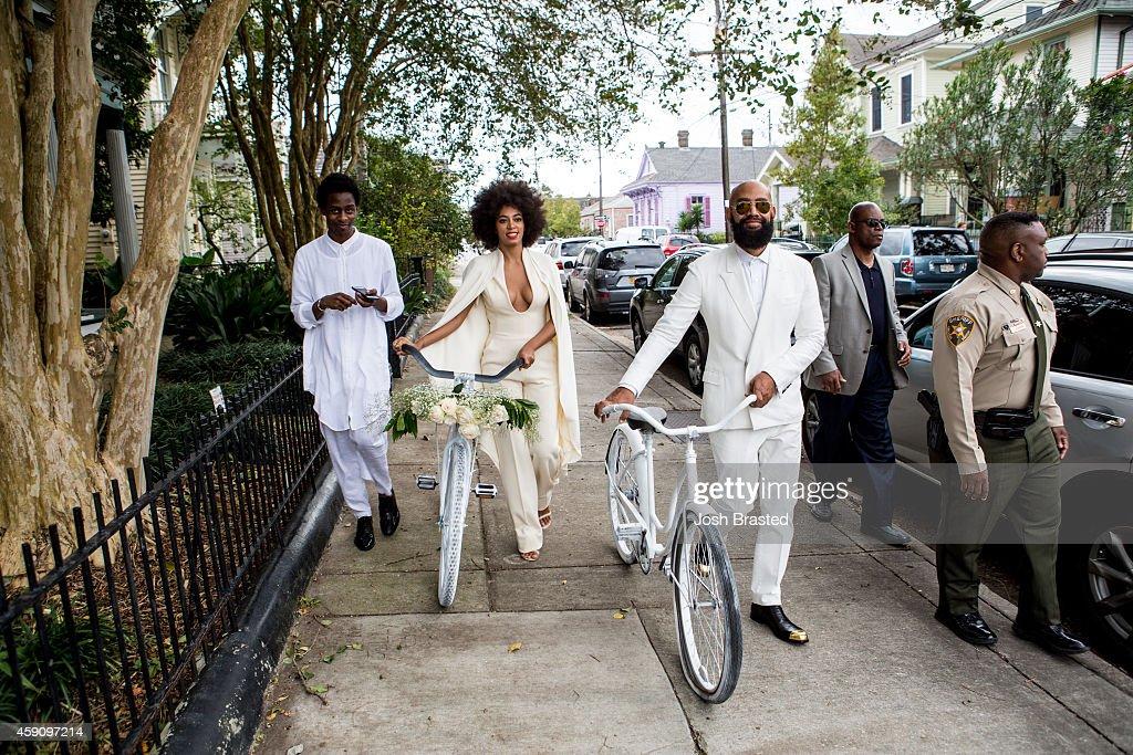 Solange Knowles Marries Alan Ferguson - Wedding Day : Fotografía de noticias
